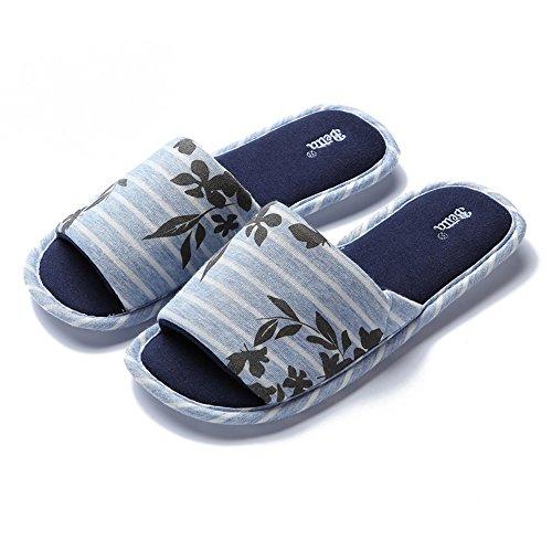 ZHIRONG Pantoufles en coton moderne pour homme et femme ( Couleur : A , taille : 40/41 ) A