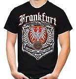 Für Immer Frankfurt Männer und Herren T-Shirt | Sport Fussball Stadt Fan (XXL, Schwarz Druck: Bunt)