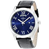 Guess Herren-Armbanduhr Mens Dress Analog Quarz Leder W0792G1