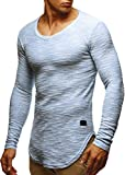 LEIF NELSON Herren Sweatshirt Hoodie Hoody T-Shirt LN6358; Größe M, Blau
