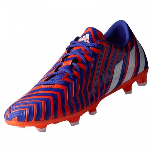 Predator Absolado Instinct FG - Chaussures de Foot Noir/Blanc/Rouge Solaire Rot (Solar Red/White/Night Flash)