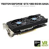 JIANGfu Yeston GTX1060 6 GB GDDR5 192bit Gaming PC Video Grafikkarte unterstützt DVI/HDMI, Schwarz, A