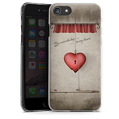 Apple iPhone X Silikon Hülle Case Schutzhülle Herz Spruch Schlüssel Hard Case transparent