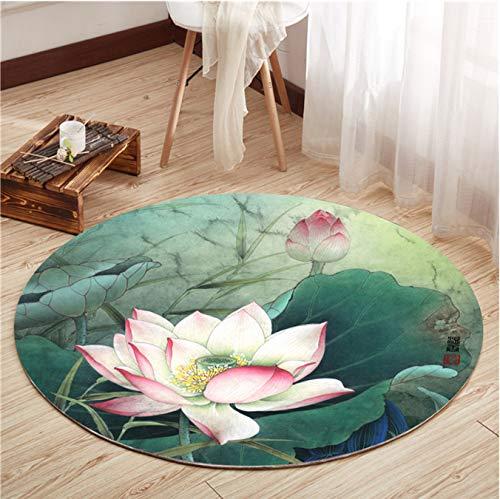 Mianbao Runder Teppich Retro Chinesisch Für Wohnzimmer Stuhl Matte Matte Zimmer Zimmer Kinderzimmer Kinder Kinder Kinder Kinder M Bei 120 cm -