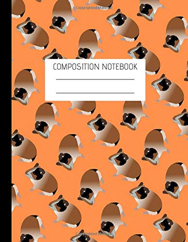 Composition Notebook: Composition guinea pig Ruled Paper Notebook to write in (8.5'' x 11'')