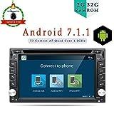 autoradio stereo, navigatore universale GPS per auto, 2G RAM, 32G ROM, Android 7.1,WiFi Model 4-Core, doppio DIN, con supporto telecamera, Link/DAB/OBD/Bluetooth/FM/AM USB/SD fino a 128GB