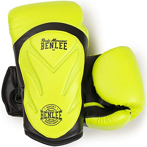 BENLEE Rocky Marciano Unisex - Erwachsene LAMPUNG Artificial Leather Boxing Gloves, Neon Yellow, 14 oz
