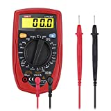 GHB Multímetro Digital Multímetro Profesional con Retroiluminación LCD y Los Cables para Medir Corriente AC/DC , Voltaje, Diodos y Continuidad Audible