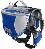 Hunderucksack für Große Hunde Reisen Camping Wandern Satteltasche Hundegeschirr Backpack Blau M