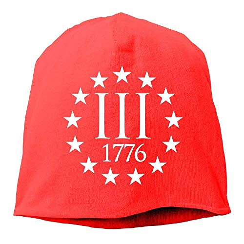 Daily Beanie Hat Three Percenter 1776 Symbol Men's Warm Cuff Watch Cap