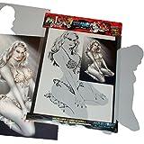 SCHNEIDMEISTER Airbrush Schablone Pin-up Stencil Girl, ca. A4, SM-HBPU01