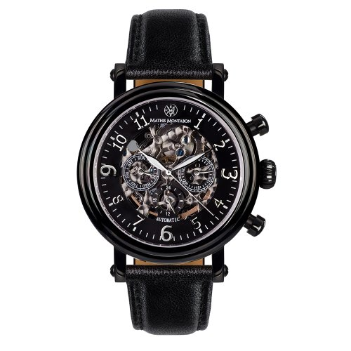 Mathis Montabon Montre Homme Executive en cuir noir