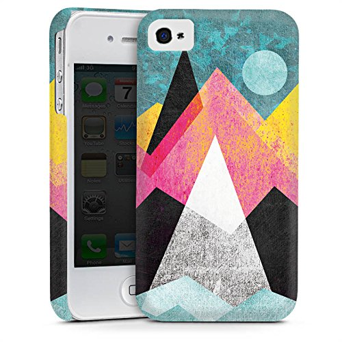Apple iPhone 4 Housse Étui Silicone Coque Protection Montagnes Lune Lune Cas Premium mat