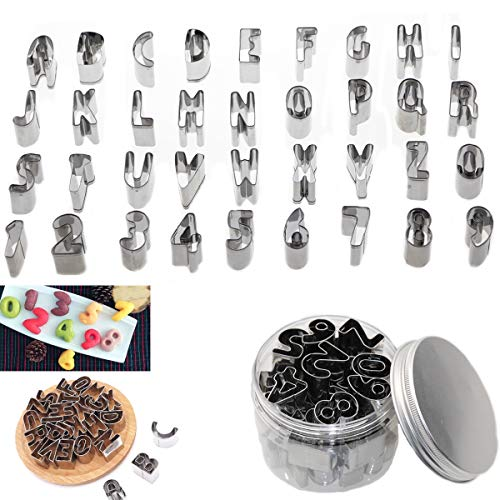 techformen für Keks Fondant, Nummer Alphabet Backen Cutter Mold Kuchen Dekoration Modell Werkzeuge ()
