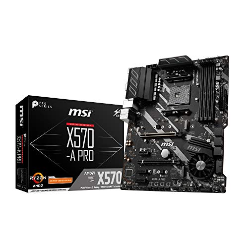 MSI X570-A Pro - Placa Base (Chipset AMD X570, DDR4, Core Boost, Intel Lan, Socket AM4, Wi-Fi, Soporta AMD Pocesadores) Color Negro