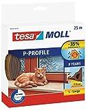 Tesa tesamoll P-Profil Gummidichtung für Fenster und Türen Braun P-Profil, 25m