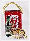 Glenfiddich 12 Jahre Single Malt Whisky 5cl mit DreiMeister Edel Schokoladen & Whisky Fudge in Weihnachtstasche aus Blech, kostenloser Versand