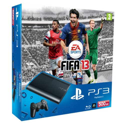 SONY CONSOLLE PS3 500GB +FIFA 13 (Fifa 2013 Ps3)