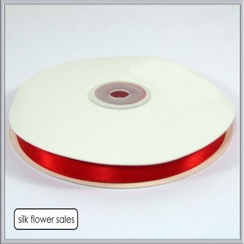 Double faced Satin Ribbon 10MM (3/8) - 50 Metres- Red by 10MM Ribbon (Ribbon Satin Face Double)
