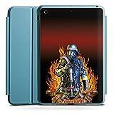 Apple iPad Mini 4 Smart Case hellblau Hülle Tasche mit Ständer Smart Cover Feuerwehrmann Feuerwehr Firefighter