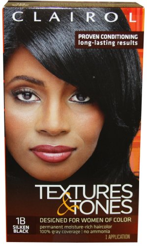 Clairol Textures & Tones * 1b - Silken Black by Clairol