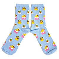 Ladies Rubber Ducks Going Quackers In The Bath Socks UK 4-8 Eur 37-42 USA 6-10