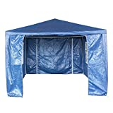 Tuff Concepts Garden Gazebo with Sides Waterproof Outdoor PE Marquee Canopy Party Tent (3x4 Blue)