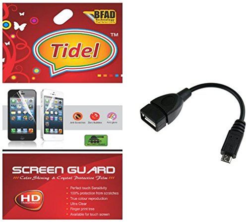 Tidel Ulta Clear Screen Guard for Micromax Canvas Mad A94 With Micro OTG Cable  available at amazon for Rs.229