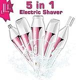 Rasoio per donna, Super-VIP 5 in 1 elettrico Hair Remover Trimmer Donne Shaver sopracciglio/Corpo/Naso/Orecchio lady Hair Remover Razor Machine epilatore femminile (rosa)