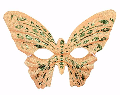 Masken Gesichtsmaske Gesichtsschutz Domino falsche Front Halloween Make-up Prom Requisiten Gold Butterfly Mask Kinder Adult Butterfly Mask Gelb