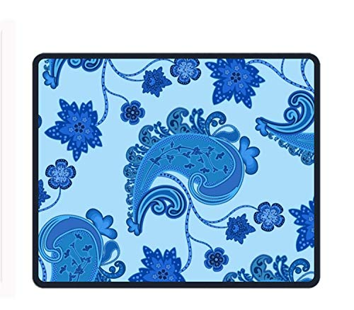 Preisvergleich Produktbild Mouse Pad - Blue Swirls and Flower - Ultra Thin Polycarbonate Professional-Grade Gaming Mouse Mat - Non-Slip Adhesive Base