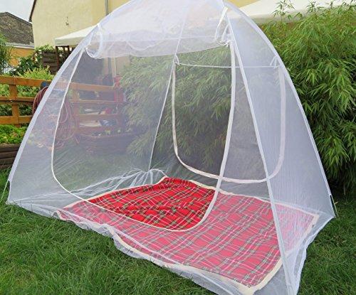 Schramm® Moskitonetz mobil 200x150x148cm Mückenschutznetz Baldachin Insektenschutz Fliegengitter Mückennetz Betthimmel Pop up Zelt
