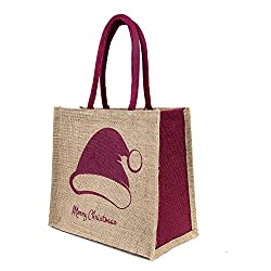 Wmm Craft jute gift bag for Christmas