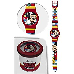 STAR LICENSING Reloj TOPOLINO Mickey Mouse Disney Analogue Wrist CONF. CM 24 - 50581ROSSO
