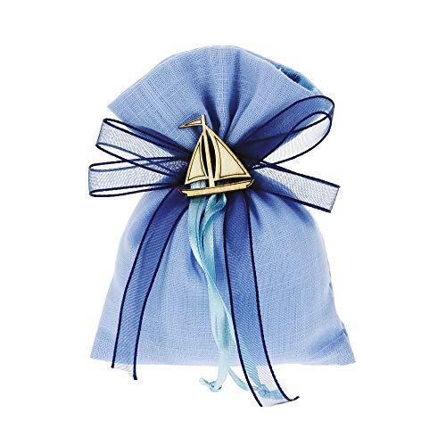 Bomboniere fai da te kit bomboniere azzurro completo di sacchetti decorazioni e nastri confezione da 30 pezzi