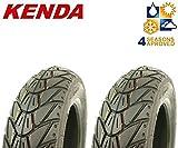 2 KENDA Winter Reifen 3,50 - 10 M+S - K415 - 56 - L - TL für Roller / Scooter