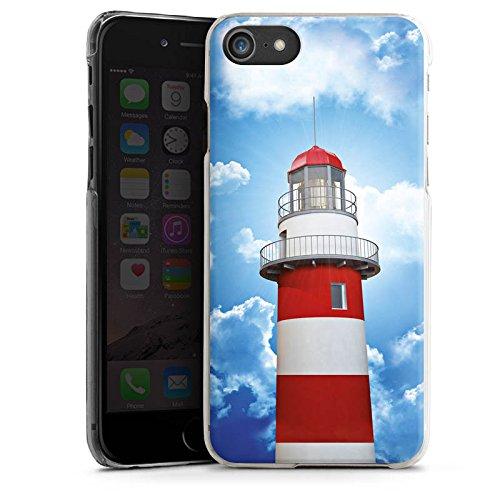 Apple iPhone 6 Tasche Hülle Flip Case Leuchtturm Himmel Wolken Hard Case transparent