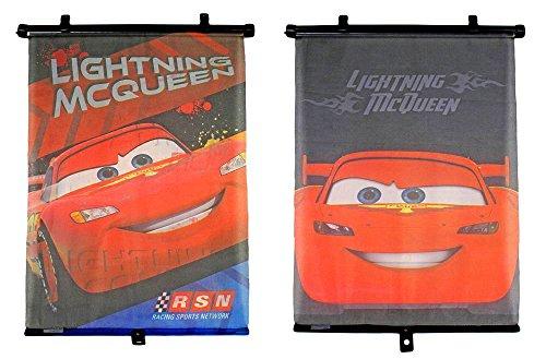 Disney´s Cars Pulldown Shade Sonnenrollo für Ihr Auto - Sonnenschutz + Überhitzungsschutz für Kinder mit Lightning McQueen