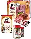 RUMPSTEAK PREMIUM Set mit Frischfleisch, Steakpfeffer & Co. inklusive gekühltem Versand innerhalb von ca. 7 Arbeitstagen (da frisch zugeschnitten) Versand nur DE