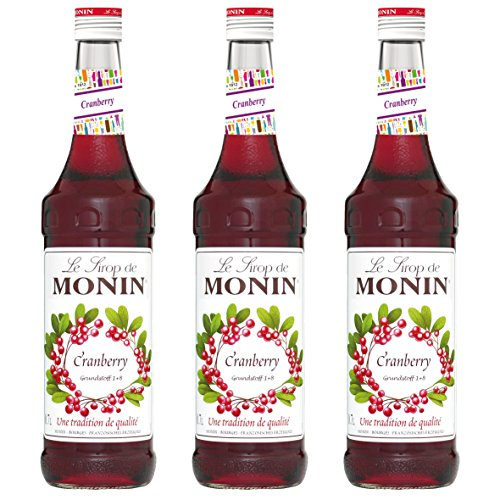 Monin Sirup Cranberry, 0,7L 3er Pack