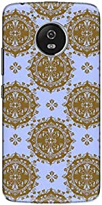 The Racoon Lean printed designer hard back mobile phone case cover for Motorola Moto G5 Plus. (Blue Royal)