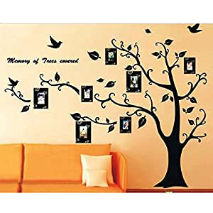 Muro Nero Foto frame albero genealogico rimovibile Wall Sticker Decal Soggiorno D¨¦cor