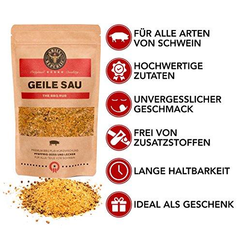 51%2BJDfgnN4L - BBQ-Rub Gewürzmischung Geile Sau von Grill Republic/BBQ-Gewürz für Schweinefleisch/Premium Schweinefleisch-Gewürz für Spared Ribs/für Smoker, Grill, Ofen und Pfanne/250g