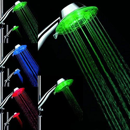 Starnearby LED Duschkopf mit Farbwechsel LED Handbrause, 7 Farben Licht Automatische, Einstellbare Wasserdurchfluss - Led-technologien Und Licht-therapie