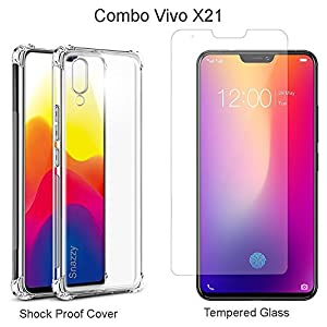 "Vivo X21 Back Case - Mowear Rugged Armour Shock Proof ""Brushed Carbon Fibre Texture"" Series [Anti Shock Corners with Air Cushion Technology] Impact Resistant Slim Profile TPU Phone Back Case Cover For Vivo X21- Carbon Black"
