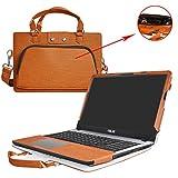 Asus X540SA X540LA Housse,2 en 1 spécialement conçu Étui de protection en cuir PU + sac portable Sacoche pour 15.6' Asus VivoBook X540SA X540LA A540LA series ordinateur,Marron
