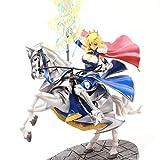 GLJJQMY Personaje Modelo Destino Femenino Guerrero Caballo Caballero Estatua Juguete colección artesanía decoración 40 CM Juguetes Modelo