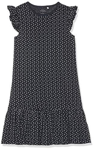 Name IT NOS Mädchen Kleid NKFVIDA CAPSL Dress NOOS, Mehrfarbig (Dark Sapphire), (Herstellergröße: 98)
