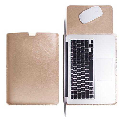 WALNEW Schlanke MacBook Pro Retina 15.4 Zoll(A1398) Hülle, MacBook Schutzhülle, Hülle, Case, Cover, MacBook Pro Retina 15.4 Zoll Hülle mit Handgriff, geschütztes Inneres und externes Mousepad