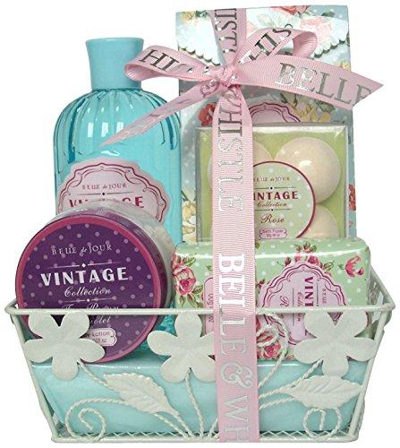 Gloss Geschenkset Badeset, Vintage, Rose, 10 Stück